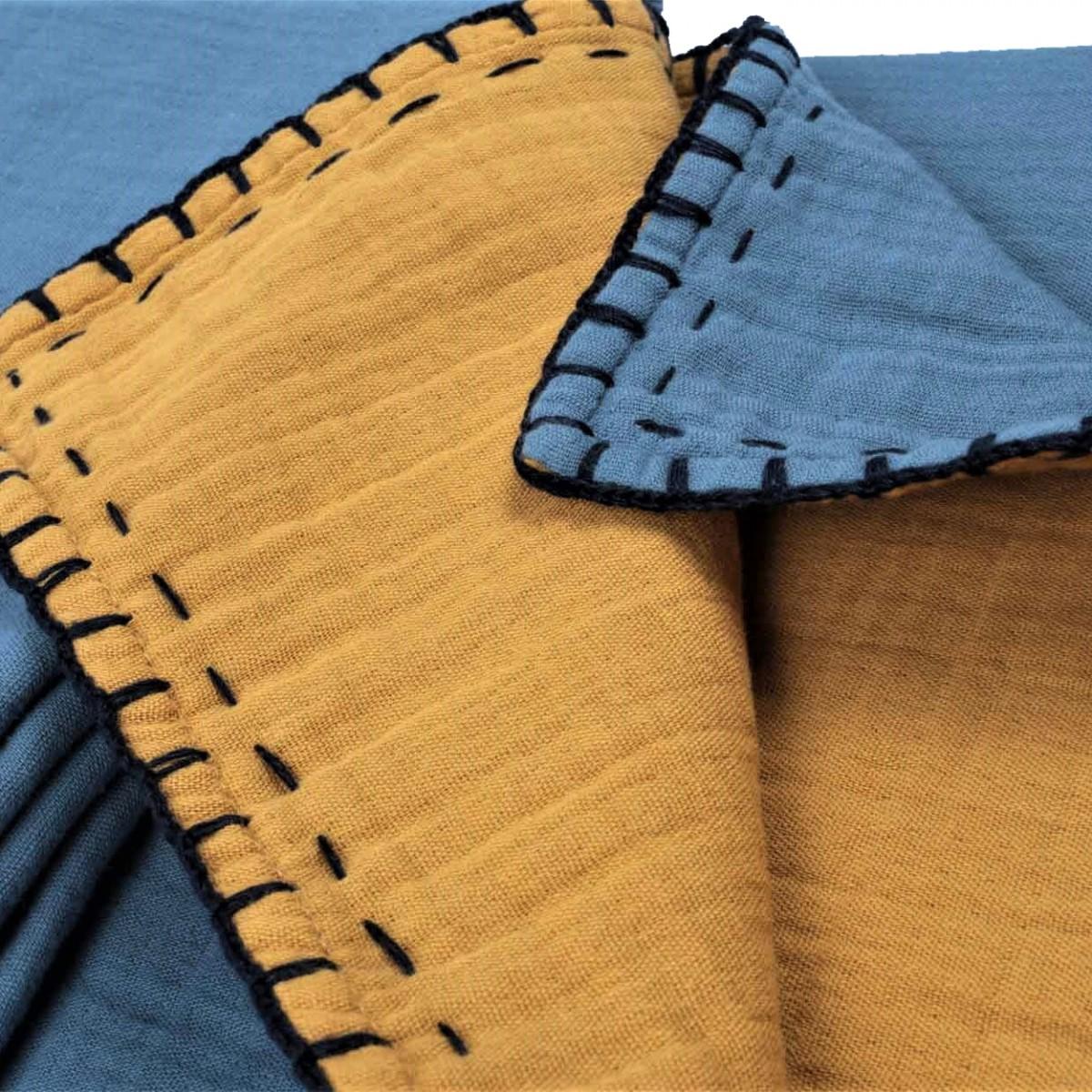 Двулицево муселиново бебешко одеяло Cottonseed